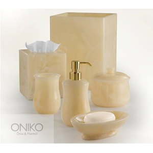 Bathroom Accessories In Natural Onyx Stone  6 Pieces