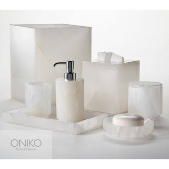 Bathroom Accessories In Natural Onyx Stone