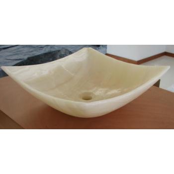 NATURAL STONE SINK ONYX WHITE 40x40cm