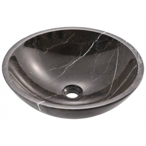 NATURAL STONE SINK MARBLE BLACK 40 cm OMNMC40