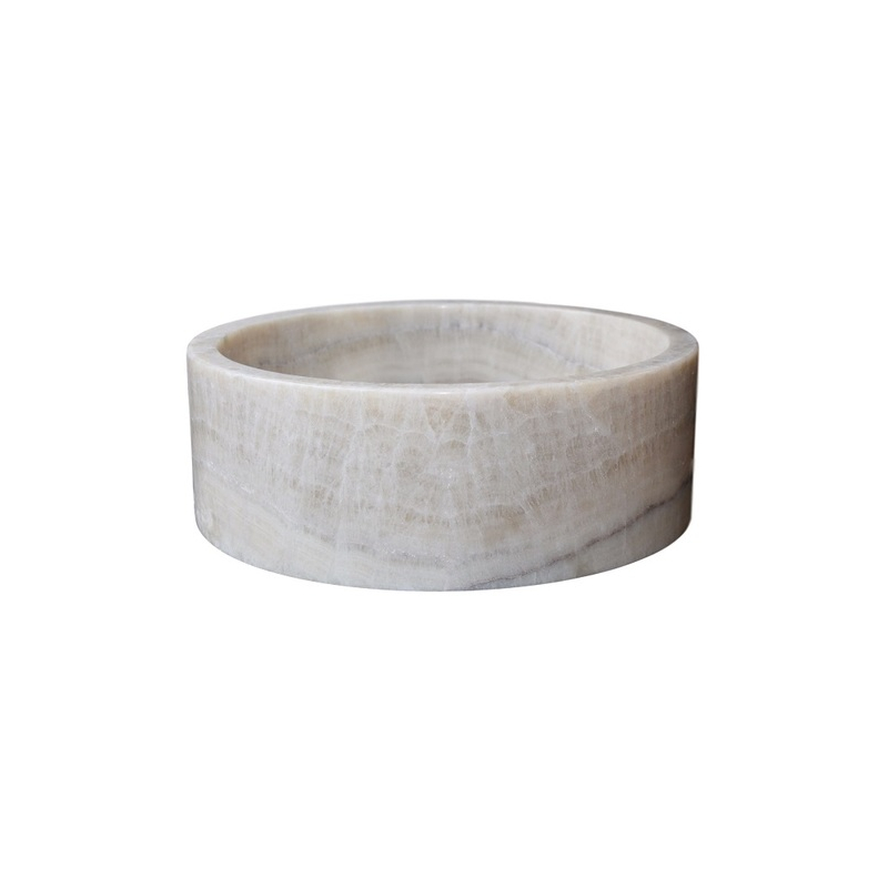 NATURAL STONE MARBLE WHITE 40 cm OMBB40
