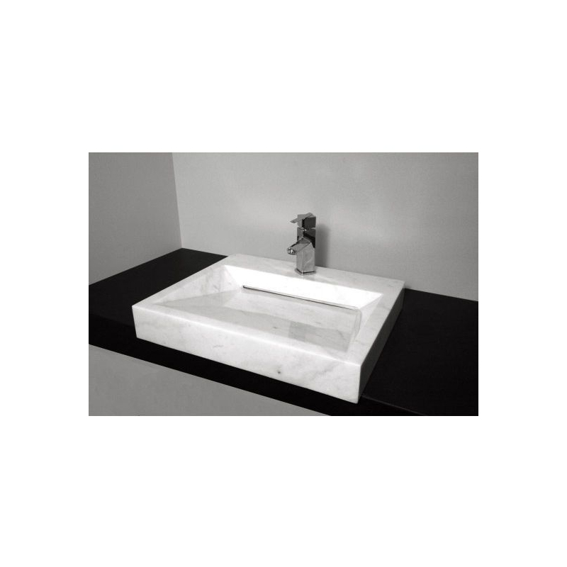 NATURAL STONE SINK MARBLE WHITE 40 x 35 cm   OMBB4035R