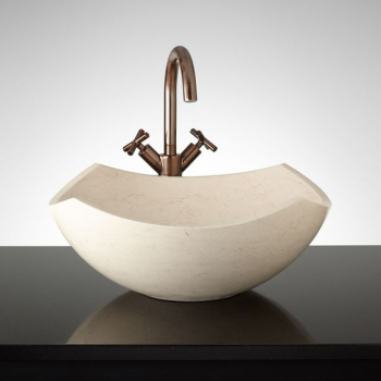 NATURAL STONE SINK MARBLE BEIGE 35 cm