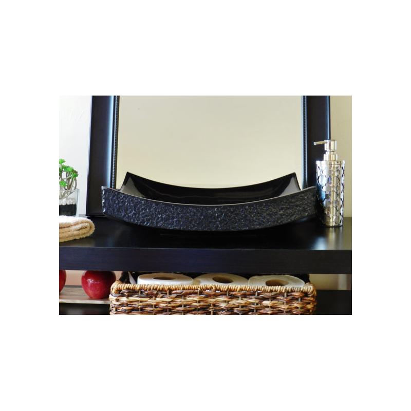 NATURAL STONE SINK MARBLE BLACK 40 x 40 cm OMNMP40