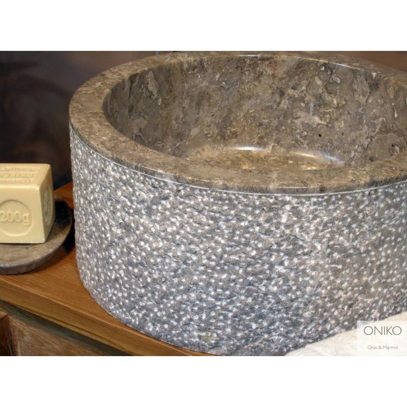 NATURAL STONE SINK MARBLE GREY 40 cm OMGSC40